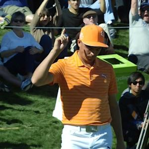 Rickie Fowler's birdie chip-in on No. 10 at Waste Management