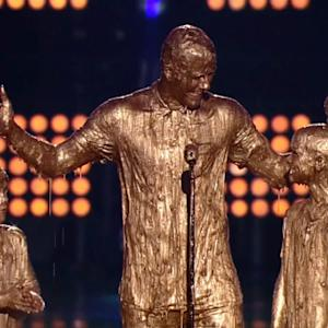 David Beckham Gets Golden Slimed