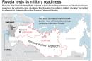 Map shows Russia military zones and Ukraine.; 3c x 4 inches; 146 mm x 101 mm;