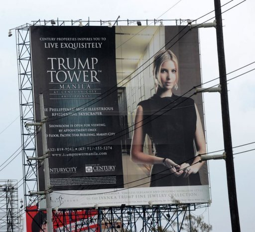 Donald Trump has put his name to a $150 mln, 56-storey Trump Tower that broke ground in Manila this year