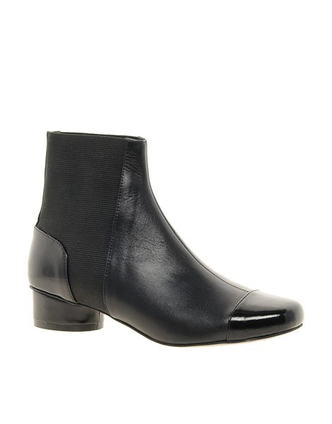 Adored leather Chelsea ankle boots, $114.34, asos.com
