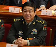 <p>Newly-elected Chinese Defense Minister Chang Wanquan attends the 12th National People's Congress (NPC) at the Great Hall of the People in Beijing, on March 16, 2013.</p>