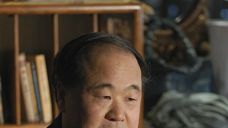 In this photo taken on Tuesday, Dec. 27, 2005, Chinese writer Mo Yan reacts during an interview in Beijing, China. Mo won the Nobel Prize in literature on Thursday, Oct. 11, 2012, a somewhat unexpected choice by a prize committee that has favored European authors in recent years. (AP Photo) CHINA OUT