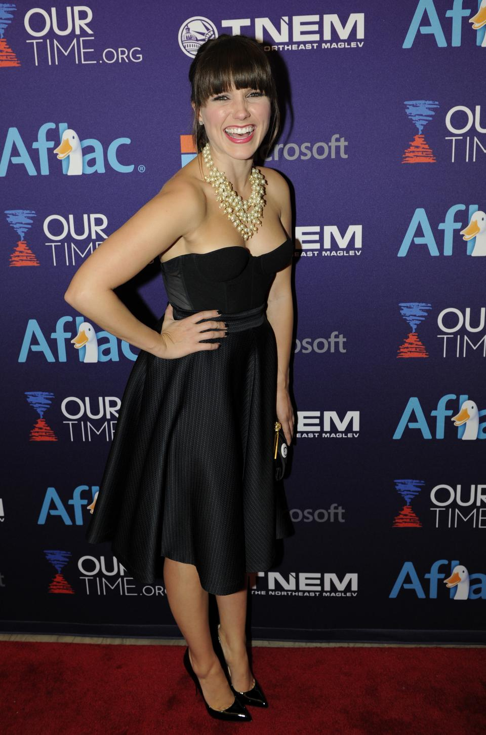 Actress Sophia Bush arrives at the OurTime.org Inaugural Youth Ball Generation Now Party on Saturday, Jan. 19, 2013, in Washington. (Photo by Nick Wass/Invision/AP)