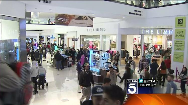 Christmas Shoppers Flock to Malls in Search of Last-Minute Bargains