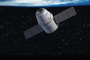 SpaceX's Commercial Spaceship Chasing Space Station in Orbit
