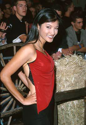 Kelly Hu at the Hollywood premiere of Touchstone's Shanghai Noon