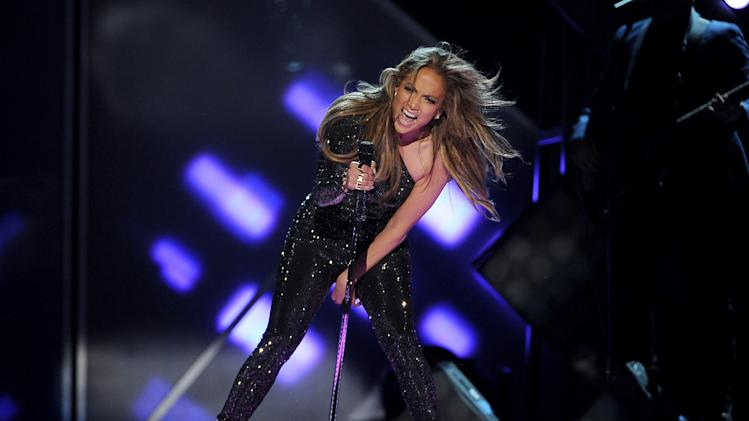 Jennifer Lopez performs on stage at the Billboard Music Awards at the MGM Grand Garden Arena on Sunday, May 18, 2014, in Las Vegas. (Photo by Chris Pizzello/Invision/AP)