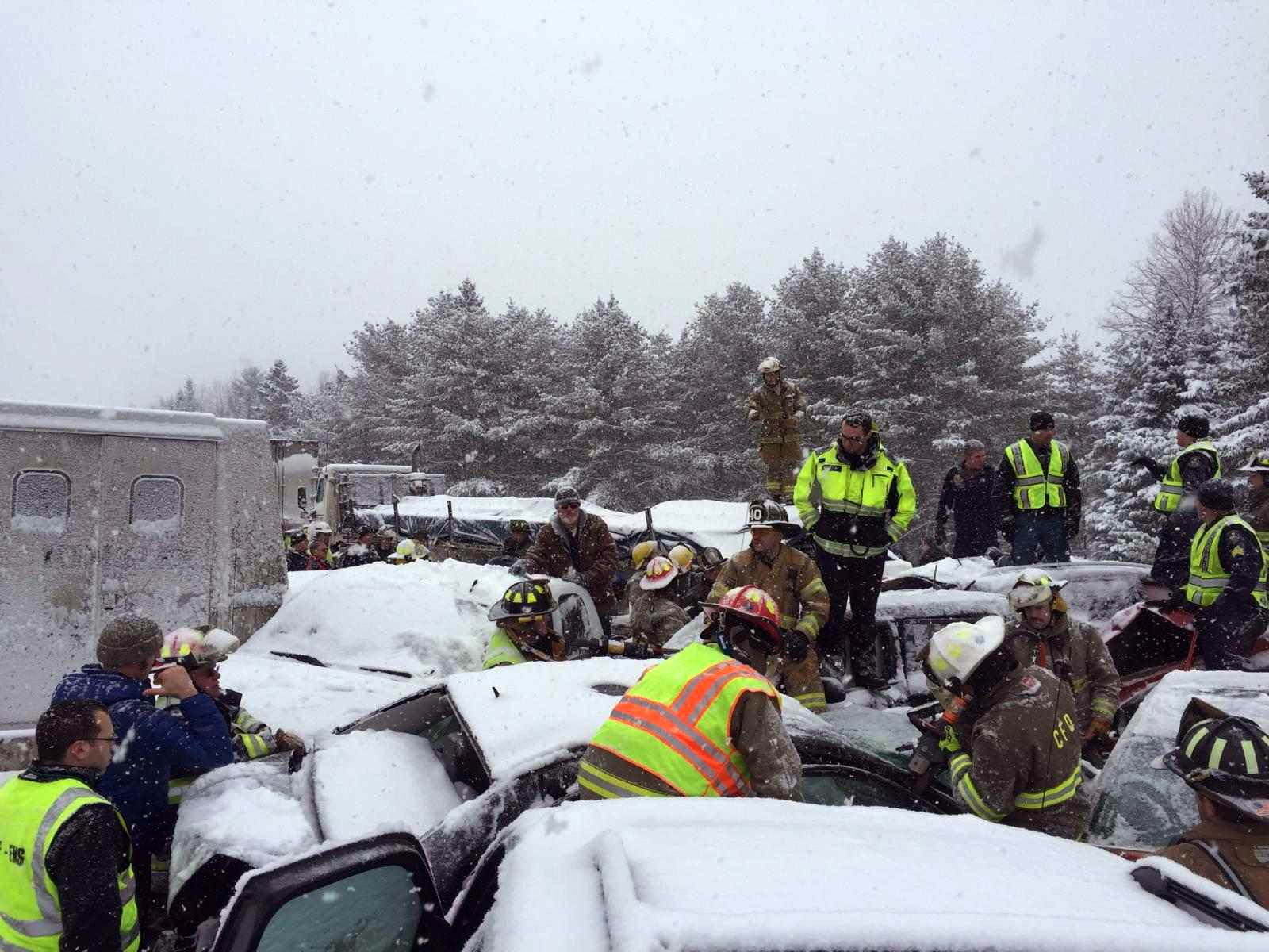 Maine weighs revoking seat belt law days after 75-car pileup