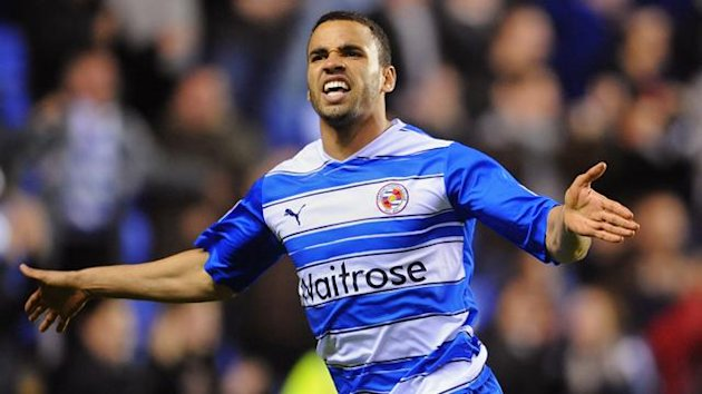 Reading's Hal Robson-Kanu celebrates his goal