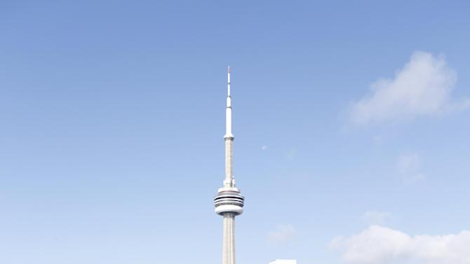 The Toronto skyine from the Bask–It–Style media day on Wednesday Sept. 5, 2012, in Toronto. (Photo by Todd Williamson/Invision for Bask-It-Style/AP Images)