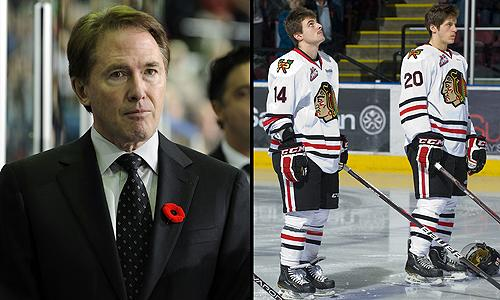 Head coach-GM Mike Johnston and his Portland Winterhawks