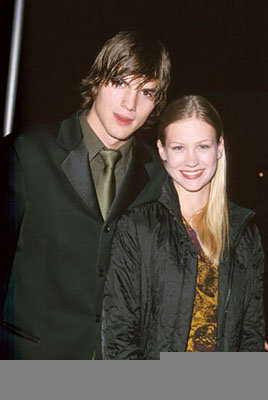 Premiere: Ashton Kutcher and January Jones at the Hollywood premiere of Dimension's Reindeer Games at the El Capitan Theatre - 2/21/2000