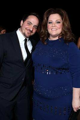 Ben Falcone and Melissa McCarthy arrive at The 23rd Annual Palm Springs International Film Festival Awards Gala at the Palm Springs Convention Center in Palm Springs, Calif., on January 7, 2012  -- Getty Images