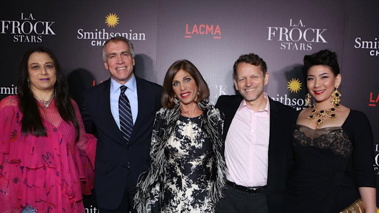 Sarah Bergman, General Manager at Smithsonian Channel Tom Hayden, Doris Raymond, EVP of Programming and Production at Smithsonian Channel David Royle and Shelly Lyn Erdmann at Smithsonian Channel's Celebration of Vintage Clothing Mecca The Way We Wore, With New Original Series L.A. FROCK STARS, on Tuesday, Mar. 5, 2013 in Los Angeles. (Photo by Eric Charbonneau/Invision for Showtime/AP Images)