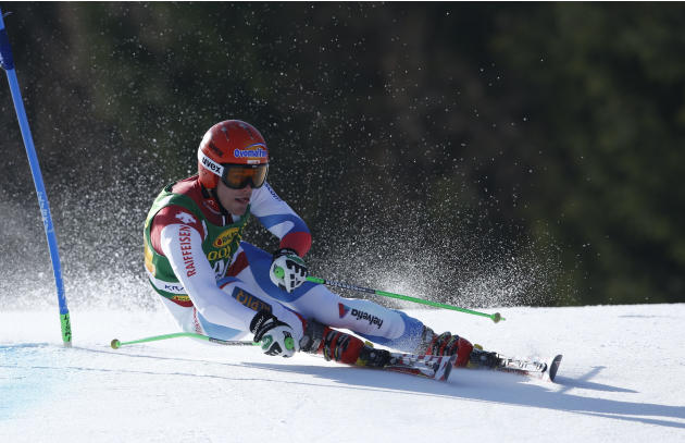 Fritz Dopfer of Germany competes during the first run of an alpine ski men's World Cup giant slalom,  in Kranjska Gora, Slovenia, Saturday, March 8, 2014