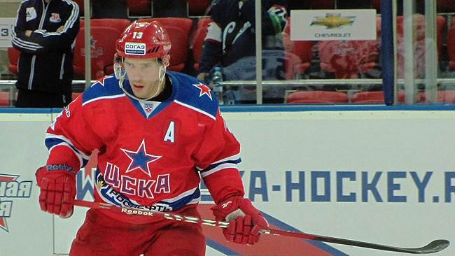 Pavel Datsyuk in action for CSKA Moscow