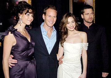 Minnie Driver , Patrick Wilson , Emmy Rossum and  Gerard Butler at the New York premiere of Warner Brothers' Andrew Lloyd Webber's The Phantom of the Opera
