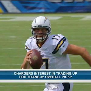 Are the San Diego Chargers interested in trading up for the No. 2 pick?