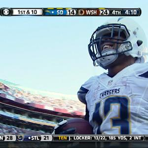 San Diego Chargers wide receiver Keenan Allen keeps getting better