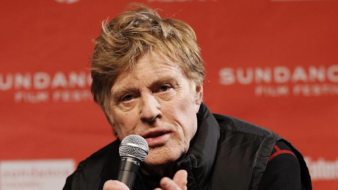 "FILE - In this Jan. 19, 2012 file photo, Sundance Institute president and founder Robert Redford speaks during a press conference at the 2012 Sundance Film Festival in Park City, Utah.  The 2012 top Sundance prize winner, ""Beasts of the Southern Wild,"" picked up four Oscar nominations, including best picture, director for first-time filmmaker Benh Zeitlin and actress for 9-year-old Quvenzhane Wallis, who had never acted before. ""That's why we're here,"" Redford said. ""When somebody comes out of nowhere and with our support goes somewhere, that's a real pleasure to me."" (AP Photo/Danny Moloshok, File)"