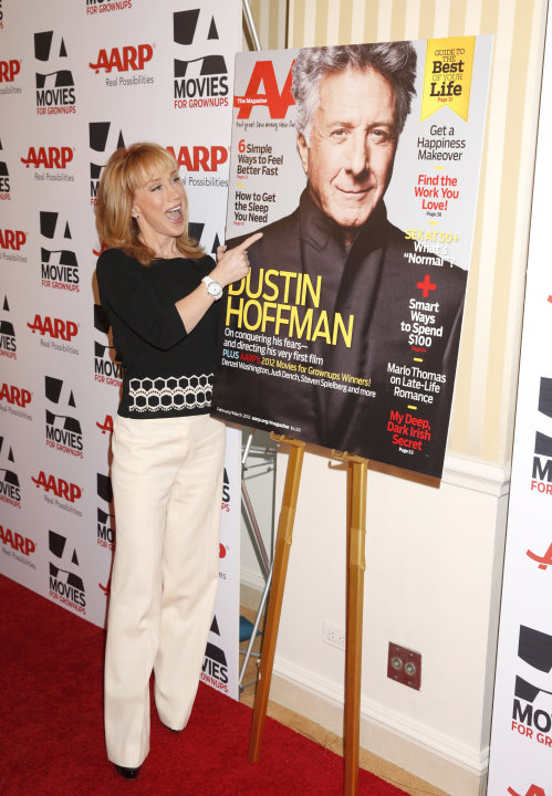 IMAGE DISTRIBUTED FOR AARP MAGAZINE - Kathy Griffin attends AARP The Magazine's 12th Annual Movies for Grownups Awards at The Peninsula Hotel on February 12, 2013 in Beverly Hills, California. (Photo