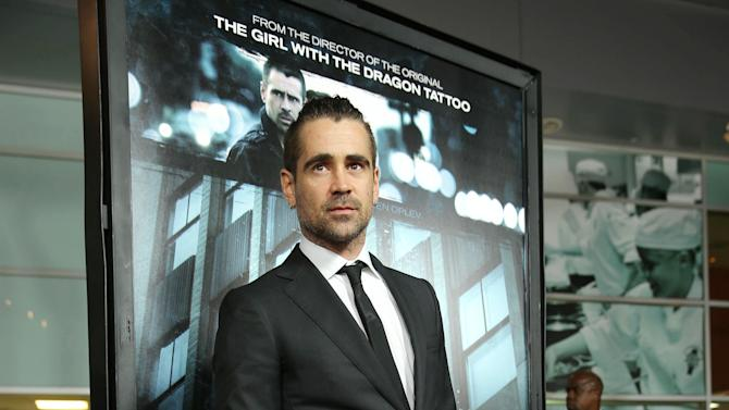 """Colin Farrell at FilmDistrict's World Premiere of """"Dead Man Down"""" held at the ArcLight Hollywood, on Tuesday, Feb. 26, 2013 in Los Angeles. (Photo by Eric Charbonneau/Invision for FilmDistrict/AP Images)"""