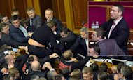 Klitschko Ringside For Ukraine Parliament Brawl
