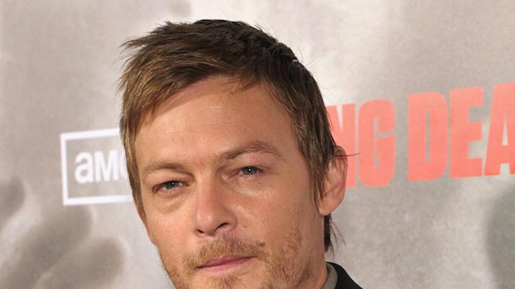 "Norman Reedus attends the Los Angeles premiere of ""The Walking Dead"" held at ArcLight Cinemas Cinerama Dome on October 26, 2010 in Hollywood, California."