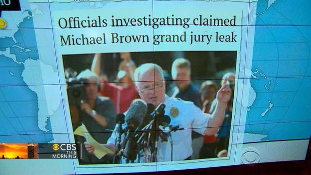 Headlines at 7:30: Officials investigate Twitter post claiming leak in Michael Brown grand jury