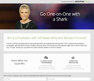 Groupon Swims with Sharks, Partners with Business Expert Barbara Corcoran to Celebrate Women-Led Businesses