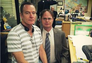 Bryan Cranston and Rainn Wilson | Photo Credits: Rainn Wilson/Instagram