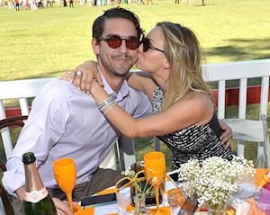 Kaley Cuoco Gives a Big Kiss to Fiance Ryan Sweeting, Says No Wedding Plans Yet