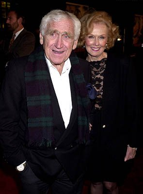 James Whitmore and wife Noreen at the Hollywood premiere of Warner Brothers' The Majestic