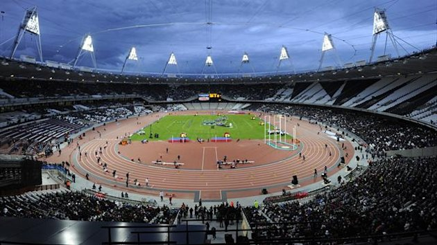 The Olympic Athletics Stadium in Stratford, London