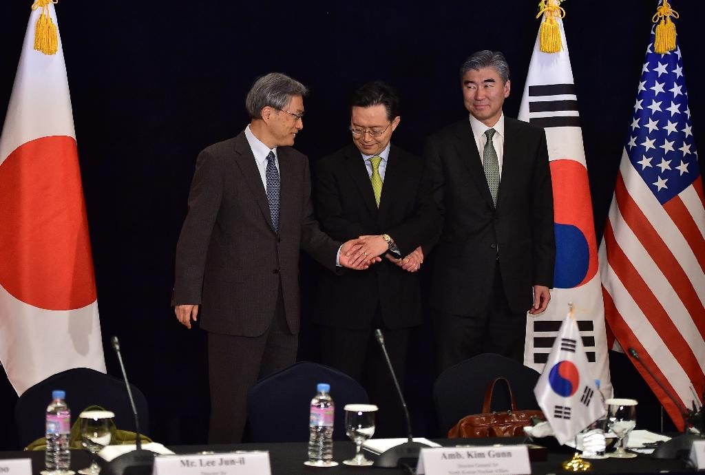S. Korea, US, Japan nuclear envoys to step up pressure on N. Korea