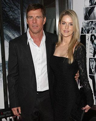 Dennis Quaid and wife at the New York City premiere of Columbia Pictures' Vantage Point