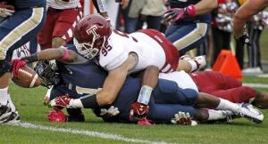 Graham scores 3 times as Pitt tops Temple 47-17
