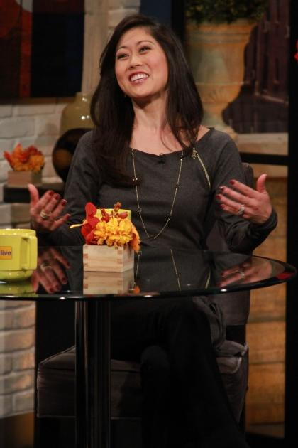 Kristi Yamaguchi stops by Access Hollywood on November 19, 2012 -- NBC