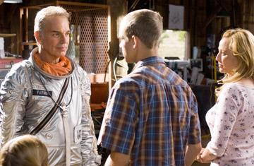 Billy Bob Thornton , Max Thieriot and Virginia Madsen in Warner Bros. Pictures' The Astronaut Farmer