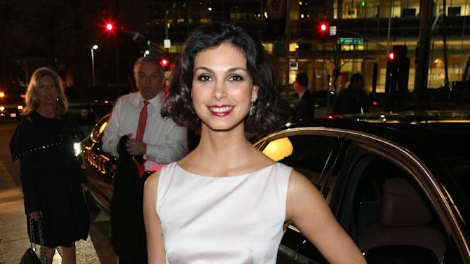 Morena Baccarin arrives at The Hollywood Reporter Nominees' Night Insider at Spago on Monday, Feb. 4, 2013, in Beverly Hills, Calif. (Photo by Casey Rodgers/Invision for The Hollywood Reporter/AP Images)