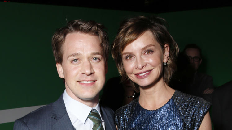 "T.R Knight and Calista Flockhart attend the after party for the LA premiere of ""42"" at the TCL Chinese Theater on Tuesday, April 9, 2013 in Los Angeles. (Photo by Todd Williamson /Invision/AP)"