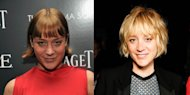 Left: Sevigny in December 2011; Right: Chloë on Monday at the Jeffrey Fashion Cares benefit