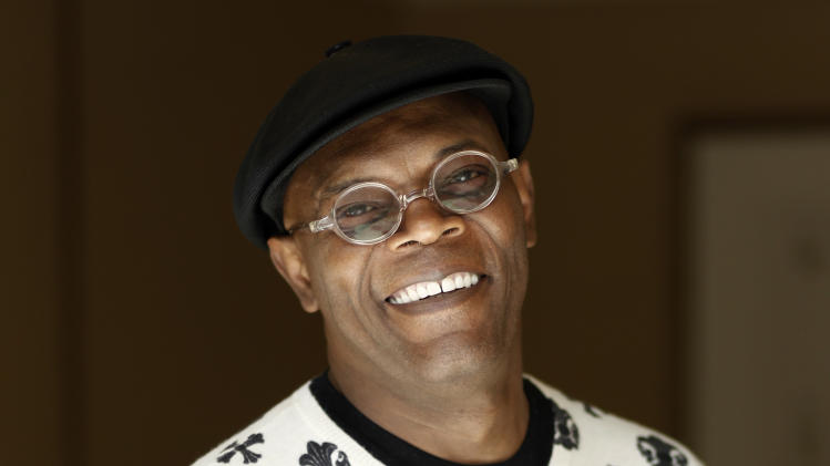 "In this April 12, 2012 photo, Samuel L. Jackson who plays Nick Fury in the upcoming film ""The Avengers"", poses for a portrait in Beverly Hills, Calif. The film will be released in theaters May 4. (AP Photo/Matt Sayles)"
