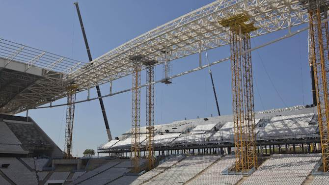 Work halted at World Cup stadium marked by death