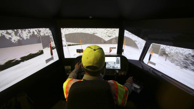 Snowplow simulator offers rare chance to practice