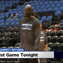 Kevin Garnett Ready To Take The Court In Minnesota Tonight