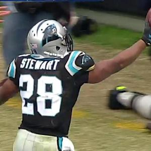 Carolina Panthers running back Jonathan Stewart Stewart 9-yard touchdown reception