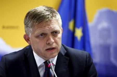 Slovakia's PM Fico addresses a news conference after a EU leaders extraordinary summit on the migrant crisis in Brussels