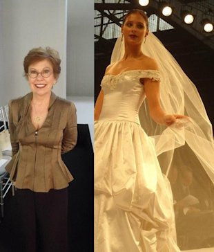 anne barge and wedding gown